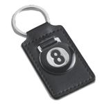 4778 - 8 Ball Leatherette Keychain