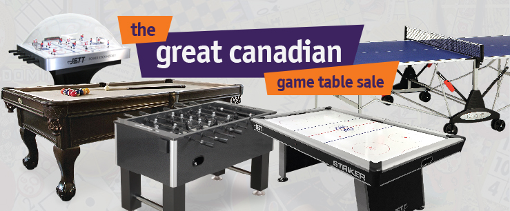 Great Canadian Game Table Sale