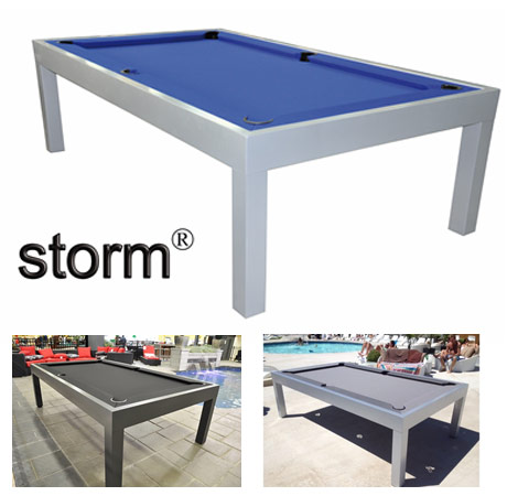 Storm Is The Outdoor Version Of Our Famous La Condo Series Pool Table.  Constructed From Solid Aluminum This Table Is Finished With Weather  Resistant Tiger ...