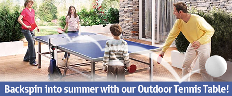 Outdoor tennis table