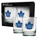 Toronto Maple Leafs Rocks Glass Set