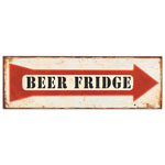 13462 - ''Beer Fridge'' Metal Sign