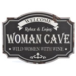 12791 - Woman Cave Metal Sign