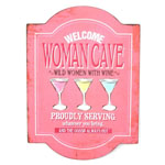12792 - Woman Cave - Women Welcome Metal Sign