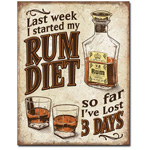 Rum Diet Tin Sign