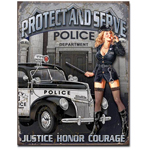Tin Sign - Police Dept. Protect and Serve
