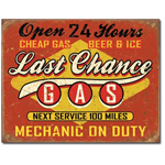 Tin Sign - Last Chance Gas