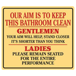 9791 - Clean Bathroom Tin Sign