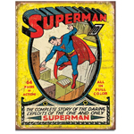 Superman No. 1 Comic Book Cover Tin Sign