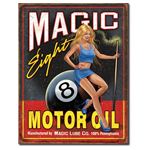 Magic 8 Motor Oil Tin Sign