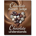 13182 - Chocolate Understands Tin Sign