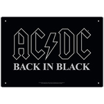 12988 - AC/DC - Back in Black Tin Sign