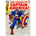 11033 - Captain America Cover Mounted Print
