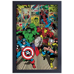 13532 - Marvel Panel Collage Framed Colour Poster
