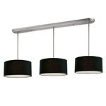 10859 - Albion Island/Billiard Brushed Nickel Black Shade