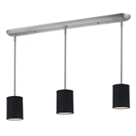 11015 - Albion Island/Billiard Lamp Brushed Nickel With Black Shades