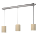 11016 - Albian Island/Billiard Lamp Brushed Nickel With Off White Linen Fabric