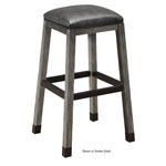 12544 - Rustic Backless Bar Stool - Whiskey Barrel and Smoke Finish