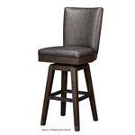 12542 - Rustic Backed Bar Stool - Whiskey Barrel and Smoke Finish