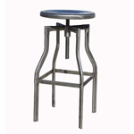 12345 - Burton Adjustable Height Bar Stool (Distressed Gunmetal) - Worldwide