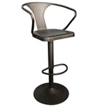 12348 - Astra Adjustable Height Bar Stool (Gunmetal) - Worldwide