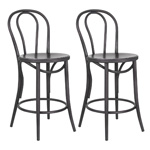 12349 - Belize 26'' Counter Stool (Set of 2 - Gunmetal) - Worldwide