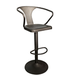 11765 - Worldwide - Astra Adjustable Bar Stool (Gunmetal)