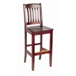 149 - Bulldog Wooden Bar Stool