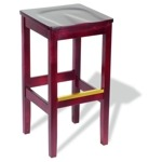 4733 - Bulldog Backless Wooden Bar Stool