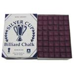 3853 - Cue Chalk SIlver Cup Wine 144 pack
