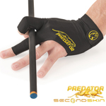 12947 - Predator Second Skin Billiard Glove - Black/Yellow