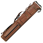 439 - Leather Brown Oval Cue Case