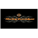 11990 - Harley-Davidson® Radical Flames Billiard Cloth 4 1/2 x 9foot
