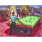 650 - Playin' for Position Mounted Print by Arthur Robins