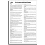 5705 - Nine Ball Laminated Rule Sheet