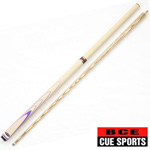 12821 - BCE Cream   Purple 2 Piece Ash Snooker Pool Cue BSP-2