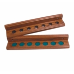 891 - Canada Billiard Oak 2 Piece Cue Rack for 7 Cues