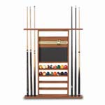 911 - Canada Billiard 4 in 1 Combo Rack Oak