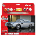 15680 - Hornby Airfix Astin Martin DB Silver 1:32 Scale Starter Model Set (A50089B)
