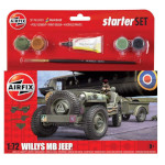 15774 - Hornby Airfix Willys MB Jeep 1:72 Scale Model Kit (A55117)