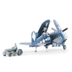 15781 - Tamiya Vought F4U-1D Corsair w/Moto Tug 1:48 Scale Model (61085)(