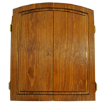 6620 - Premium Fruitwood Stained Dart Cabinet