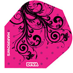7944 - Diva Flight Pink with Black Vines