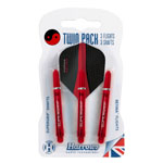 12036 - Harrows Twin Pack - Black/ Red