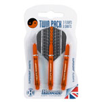 12037 - Harrows Twin Pack - Black/ Orange