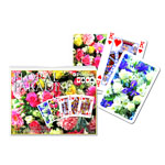 12369 - Floral Paradise - Rose Double Deck Bridge Size Playing Cards by Piatnik