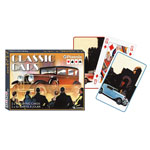 12371 - Classic Cars Double Deck Bridge Size Playing Cards by Piatnik