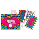 12373 - Fantasia Double Deck Bridge Size Playing Cards by Piatnik