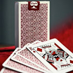 9444 - Ellusionist Red Bordered Dealers' Cards by Daniel Madison