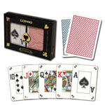 11876 - Copag Dual Poker Size Dual Index Double Deck Red and Blue